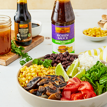 Recipe Mushroom Burrito Bowl  Lime Cilantro Dressing S