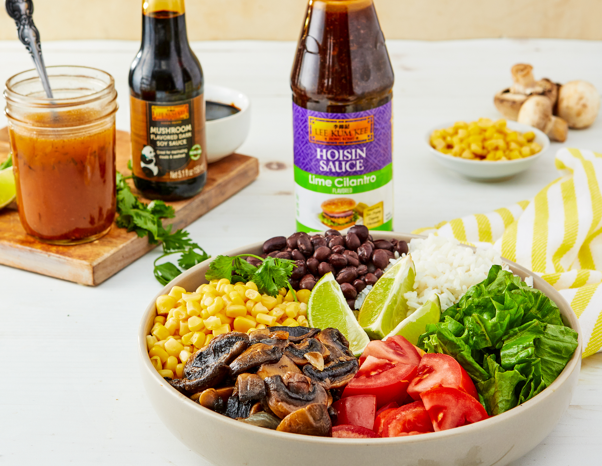 Recipe Mushroom Burrito Bowl  Lime Cilantro Dressing