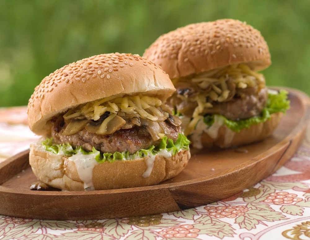 Recipe Mushroom-Onion Hoisin Burger