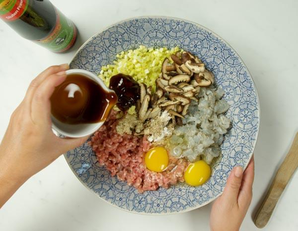香菇鮮蝦豬肉餃
