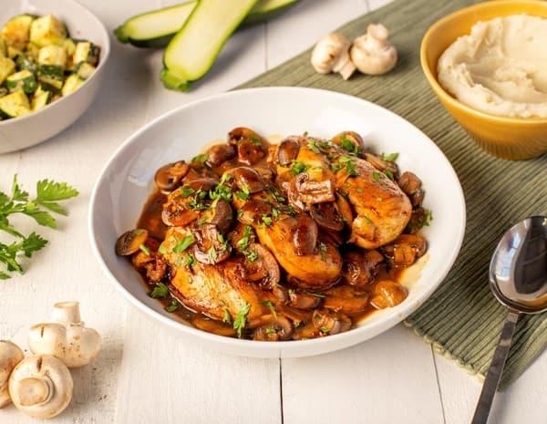 蚝油蘑菇鸡