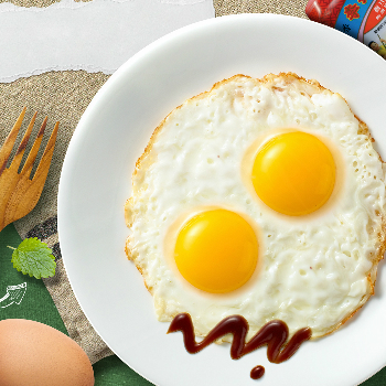 Recipe Pan-Fried Eggs with Oyster Sauce