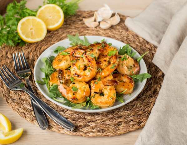 Recipe Pan Fried Shrimp with Mixed Herbs and Triple Citrus Sauce