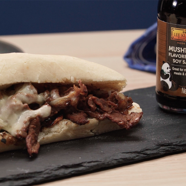 Recipe Philly Cheesesteak with Mushroom Flavored with Dark Soy Sauce S