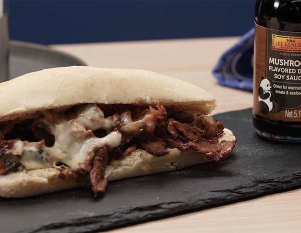 Recipe Philly Cheesesteak with Mushroom Flavored with Dark Soy Sauce