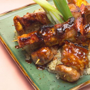 Recipe Pineapple Pork Kabobs with Lee Kum Kee Premium Oyster Flavored Sauce S