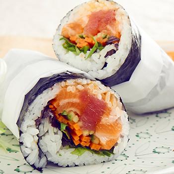 Recipe Poke Rice Burrito poke seaweed wraps