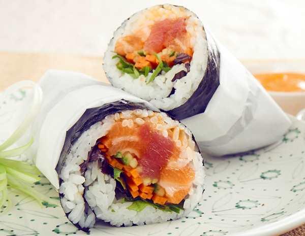 Recipe Poke Rice Burrito/ poke seaweed wraps