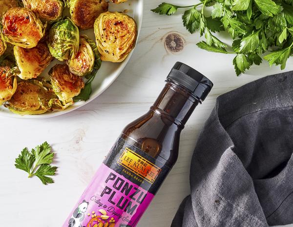 Recipe Ponzu Plum Roasted Brussel Sprouts