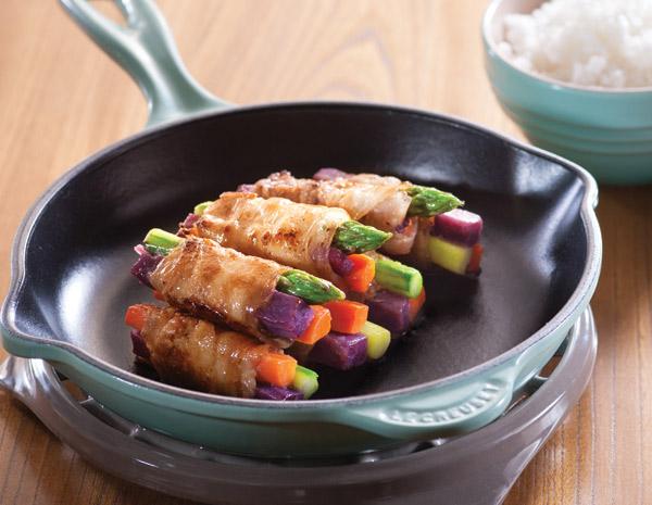 Recipe Pork and Veggie Bundles