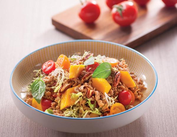 Recipe Pork Mango and Walnut Salad