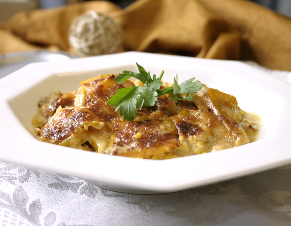 Recipe Pumpkin Au-Gratin with Lee Kum Kee Panda Brand Oyster Flavored sauce