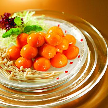 Recipe Pumpkin Balls with Enoki Mushrooms S