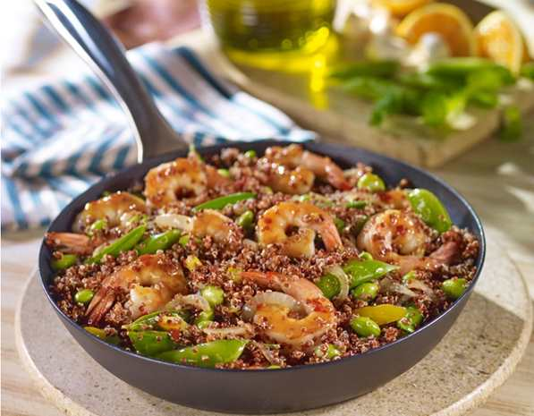 Recipe Quinoa Stir-Fry with Shrimp and Vegetables with Oyster Sauce