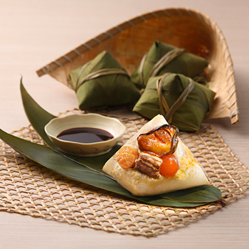 Recipe Rice Dumplings with Golden Oysters and Dried Scallops S