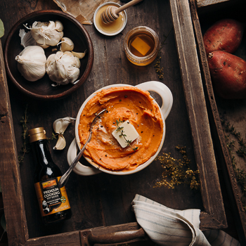 Recipe Roasted Garlic Mashed Sweet Potatoes S