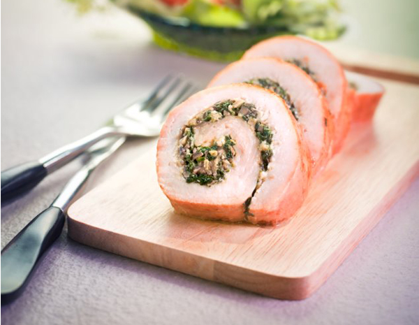 Recipe Roasted Stuffed Turkey Roll