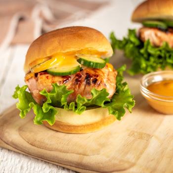 Recipe Salmon Burger with Sweet Chili Glaze S