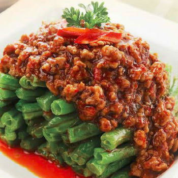Recipe Sauteed String Beans with Spicy Ground Pork S