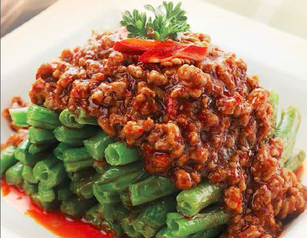 Recipe Sauteed String Beans with Spicy Ground Pork