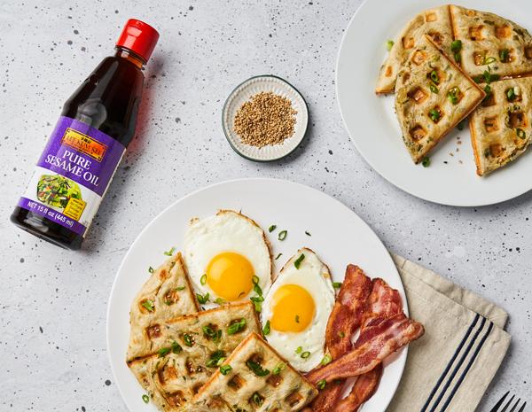 Scallion Pancake Waffles