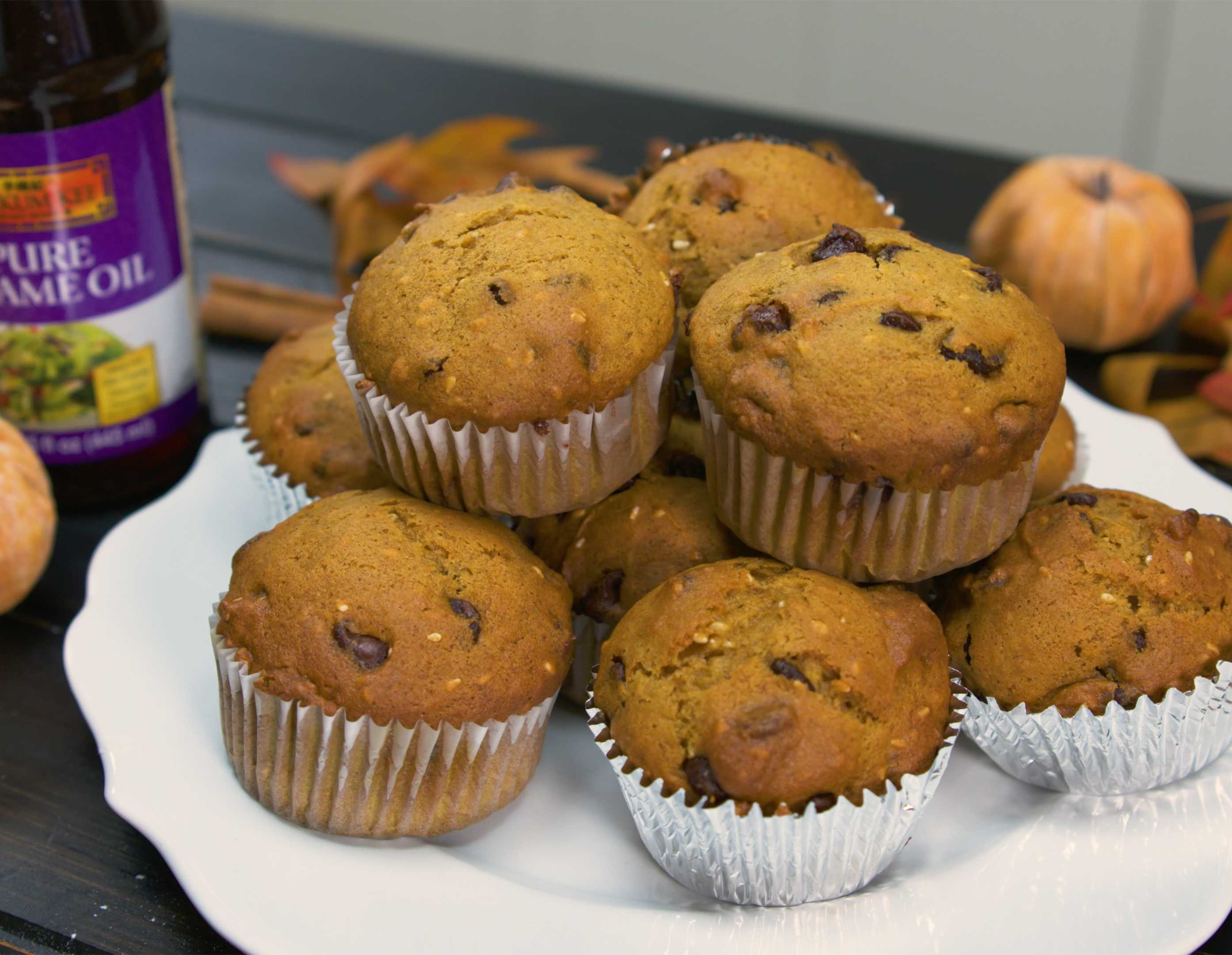 Recipe Sesame & Chocolate Chip Pumpkin Muffins