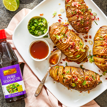 Recipe Sesame Bacon Hasselback Potatoes S