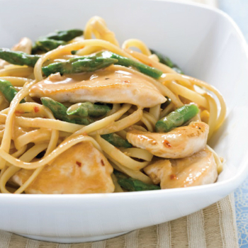 Recipe Sesame Noodles with Chicken and Asparagus