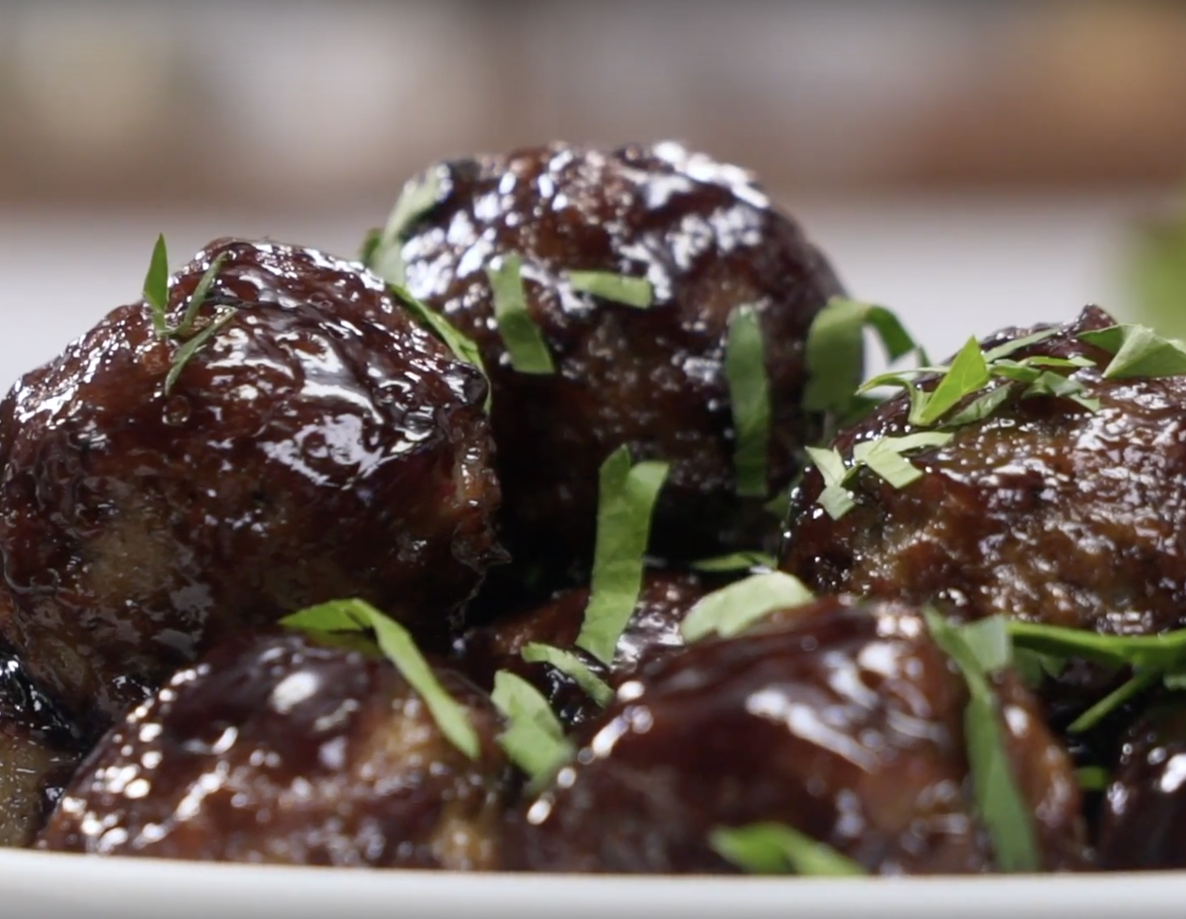 Recipe Sheet Pan Meatballs wih Hoisin Sauce