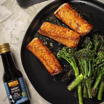 Recipe Soy Glazed Salmon with Broccoli Rabe S