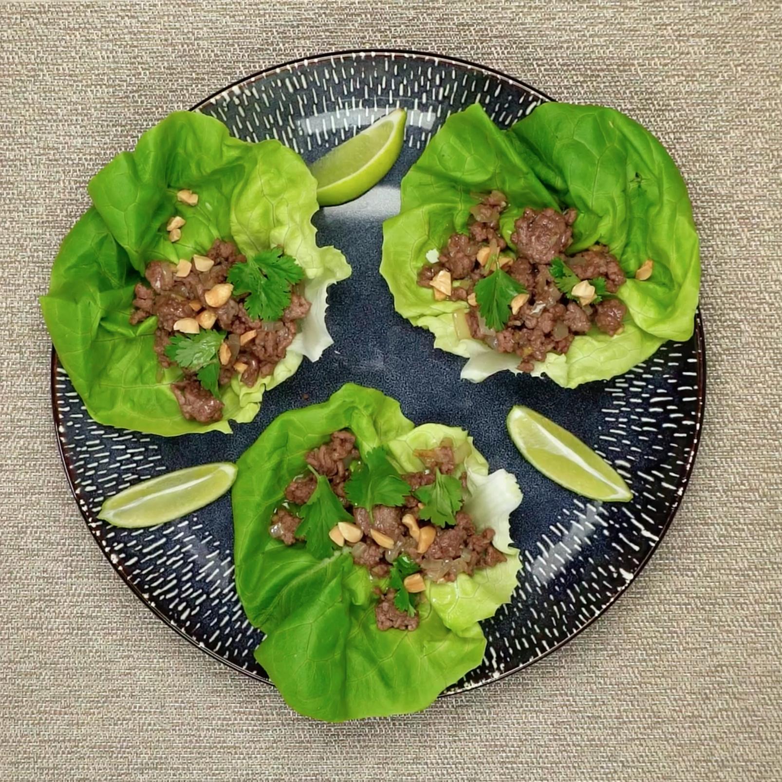 Recipe Spicy Beef Lettuce Wraps S