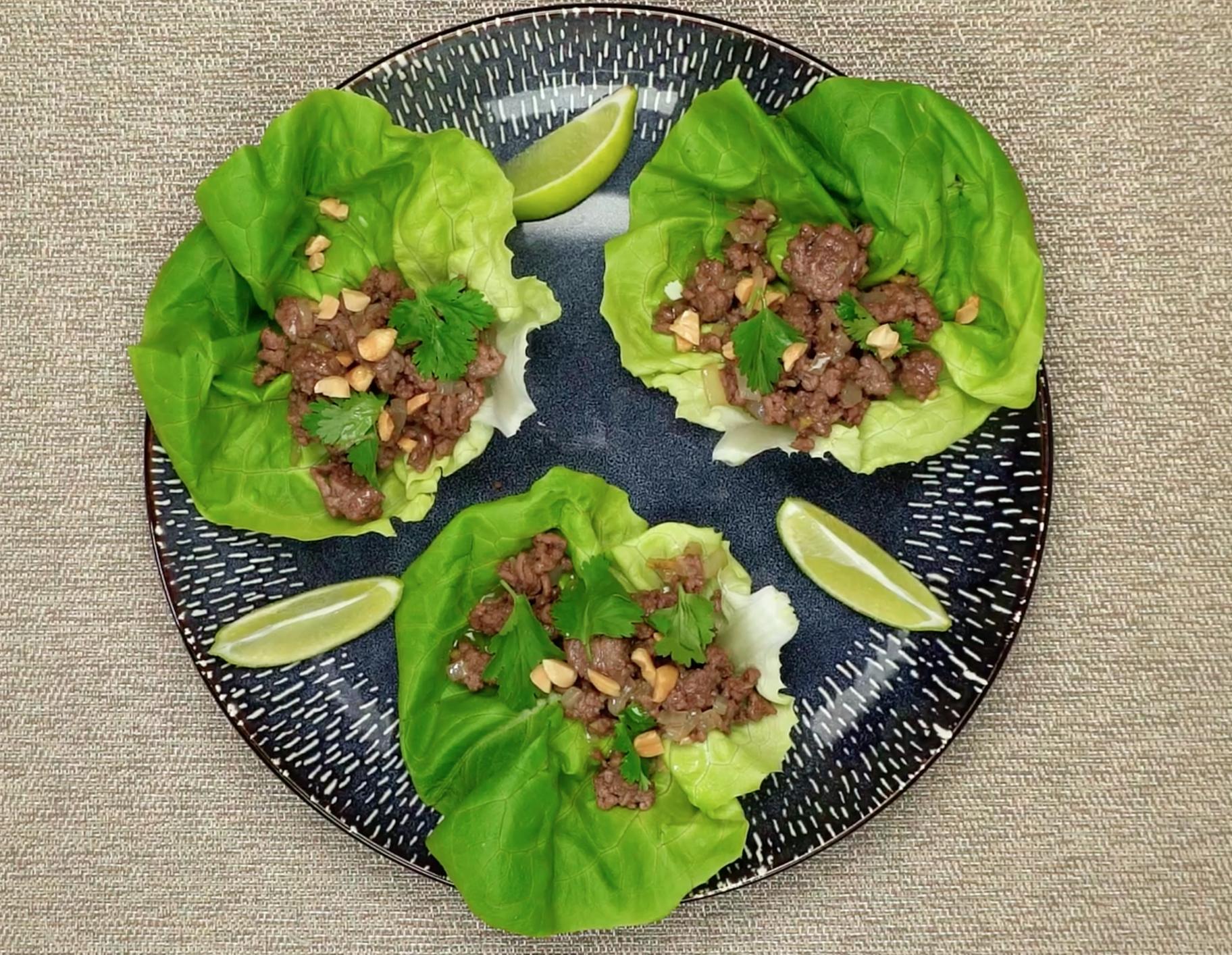 Recipe Spicy Beef Lettuce Wraps