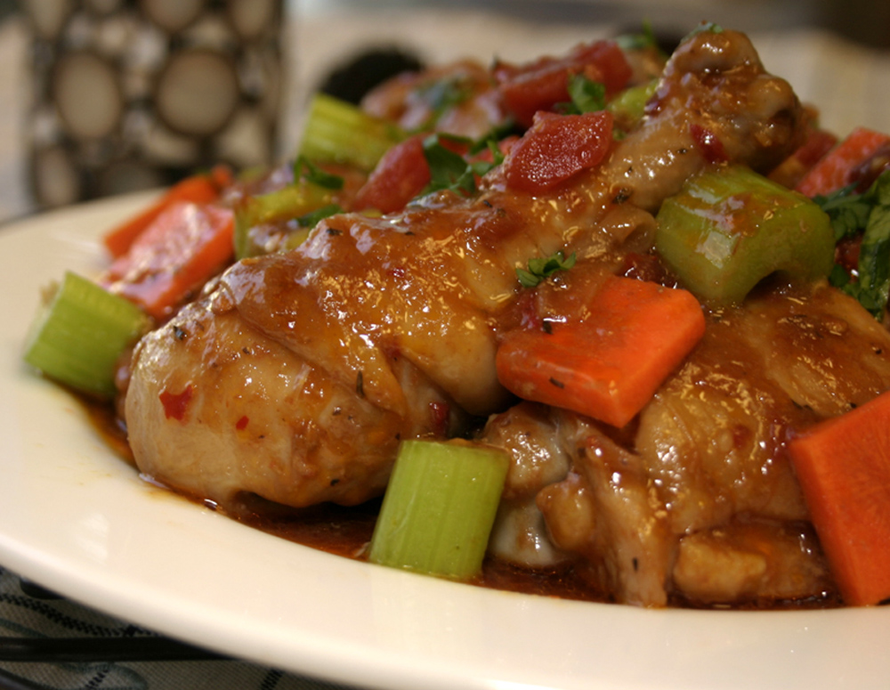 Recipe Spicy Chicken Stew with Oyster Flavored Sauce
