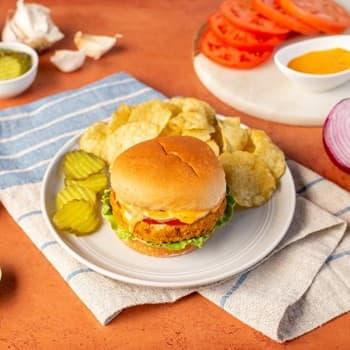 Sriracha Mayo Chickpea Burger