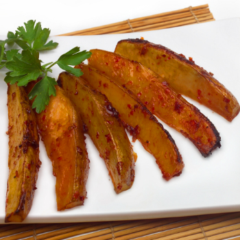 Recipe Spicy Potato Wedges with Hoisin Flavored Sour Cream Dip