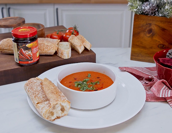 Recipe Spicy Roasted Red Pepper & Tomato Soup