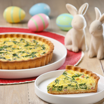 Recipe Spinach and Bacon Quiche with Oyster Sauce S