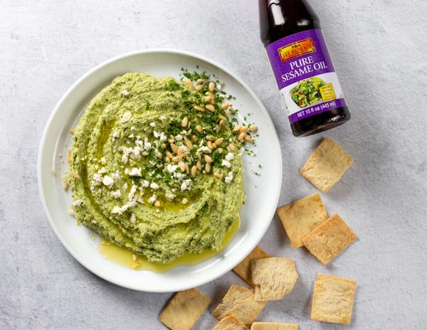 Recipe Spinach Feta & Dill Hummus