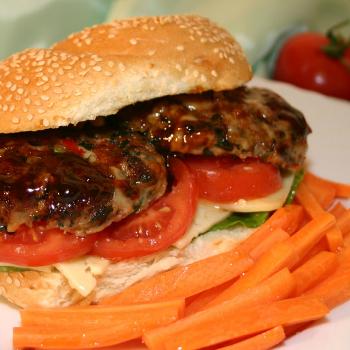 Recipe Spinach Mozzarella Burger