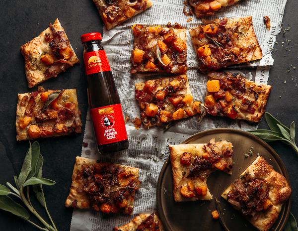 Recipe Squash & Caramelized Onion Pizza