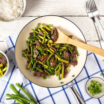 Recipe Steak and Asparagus Stir Fry S