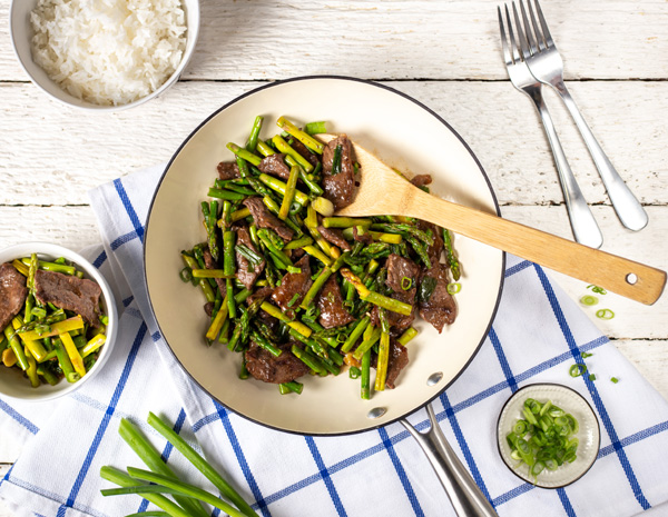 Recipe Steak and Asparagus Stir Fry