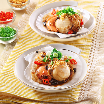 Recipe Steamed Scallops with Black Bean Garlic Sauce S