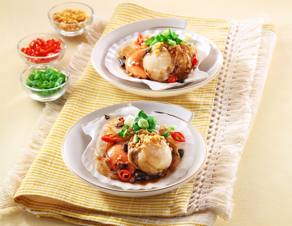 Recipe Steamed Scallops with Black Bean Garlic Sauce