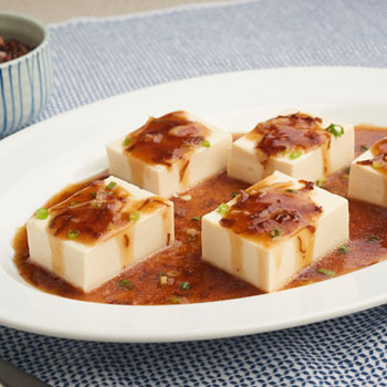 Recipe Steamed Soft Tofu Pair with OS with Dried Scallop S