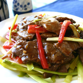 Recipe Stir-Fried Beef with Leek