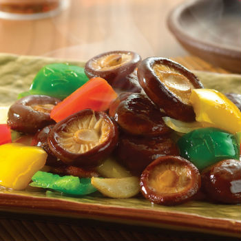 Recipe Stir Fried Fresh Mushrooms with Mixed Peppers S