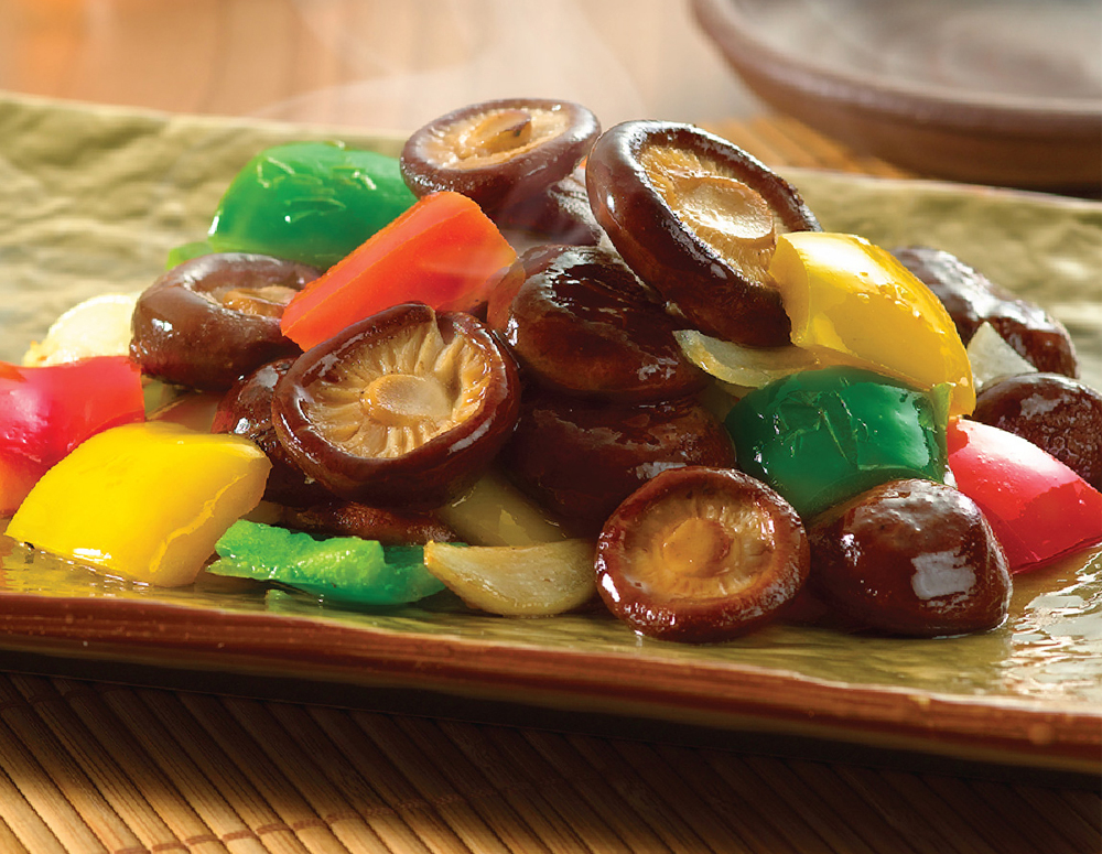 Recipe Stir Fried Fresh Mushrooms with Mixed Peppers