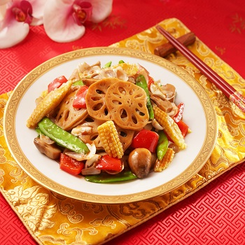 Recipe Stir-fried Lily Bulb and Lotus Root with Oyster Sauce 350x350