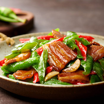 Recipe Stir-Fried Pork Belly with Chili Peppers S